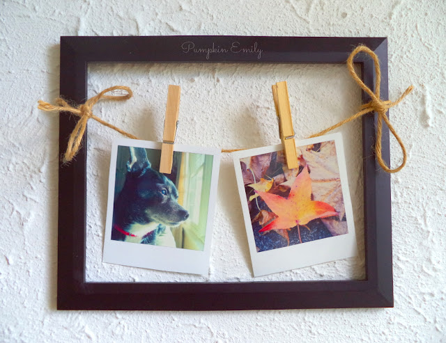 Polaroid Picture Frame Display DIY Polaroid display