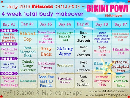 helena's bikini body workout