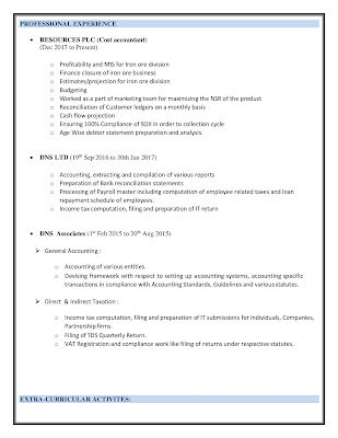 Cost Accountant Resume 2