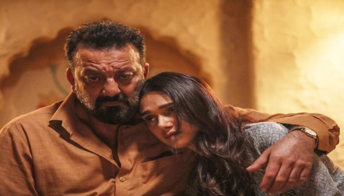 Sanjay Dutt and Aditi Rao Hydari Sad Look in Bhoomi