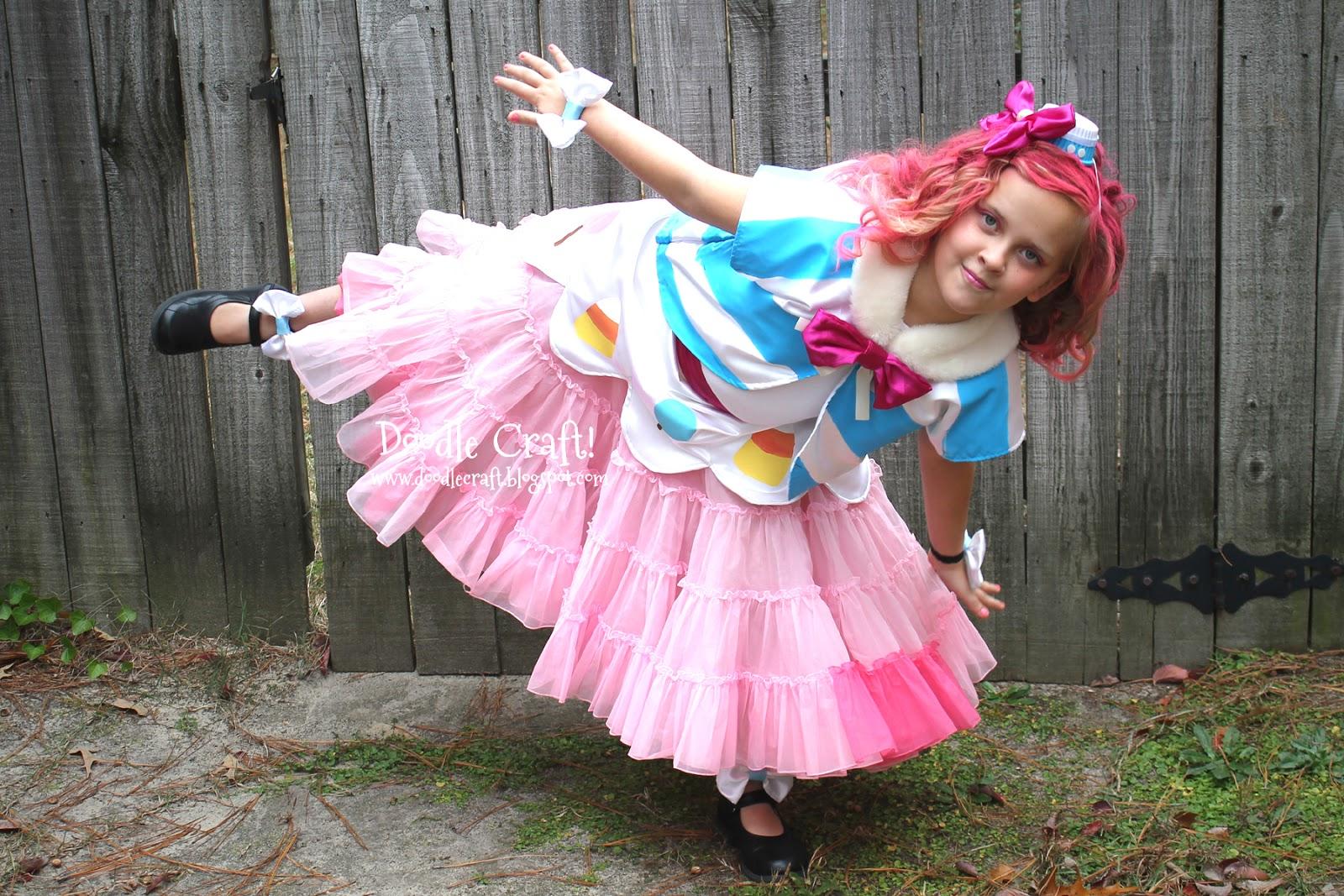 Doodlecraft My Little Pony Pinkie Pie Gala Cosplay Dress