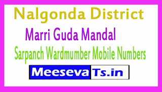 Marri Guda Mandal Sarpanch Wardmumber Mobile Numbers List Part I Nalgonda District in Telangana State