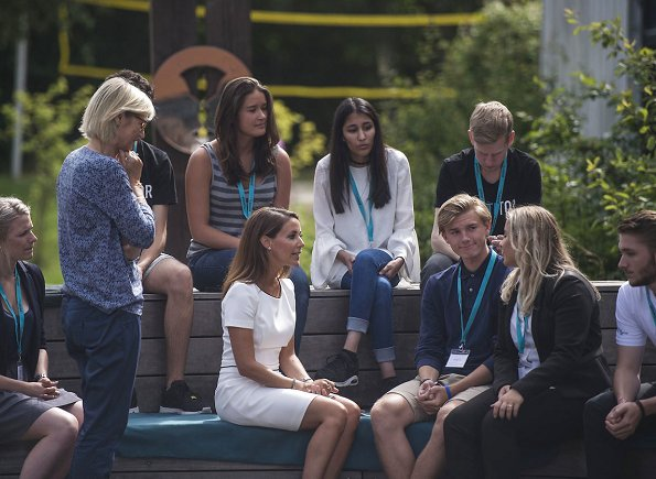 Princess Marie visited the summer camp 2017 of the Academy of Talentful Youth ( ATU) at Nørre Gymnasium in Brønshøj