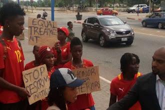Ghana's Black Queens Protest Unpaid Bonuses 😭😭😭