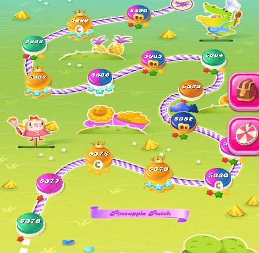 Candy Crush Saga level 5376-5390