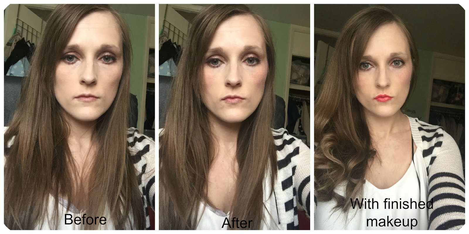 before and after laura geller baked gelato blusher in rosewater
