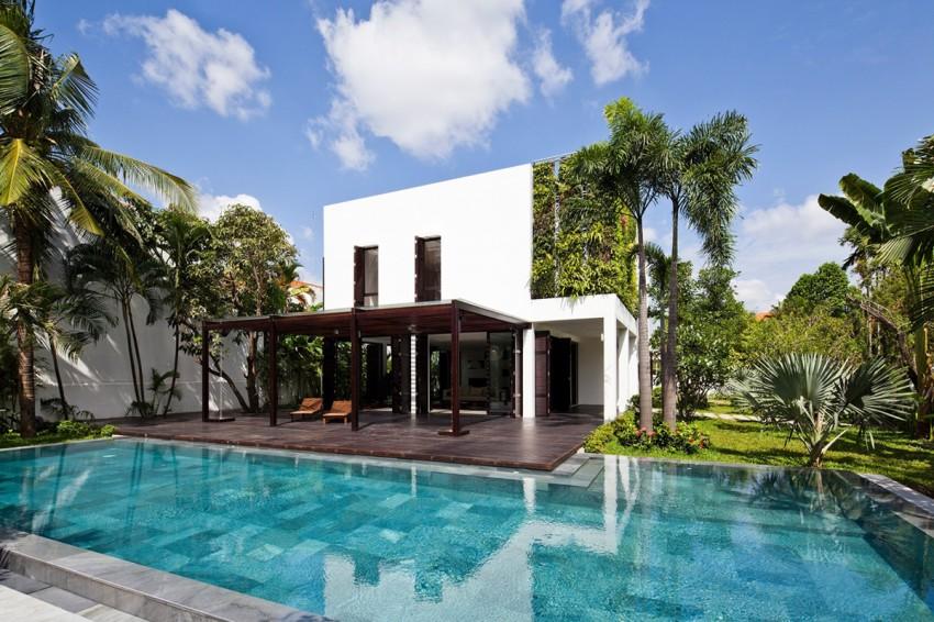 desain rumah mewah dengan kolam renang & 50 Desain Kolam Renang Minimalis Untuk Rumah Mewah | Desainrumahnya.com