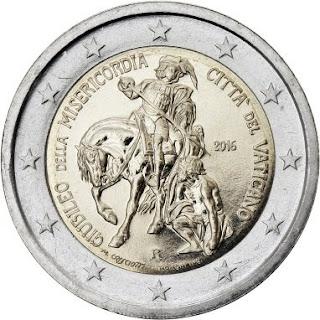 2€ commémorative Vatican 2016 - Saint Martin de Tours