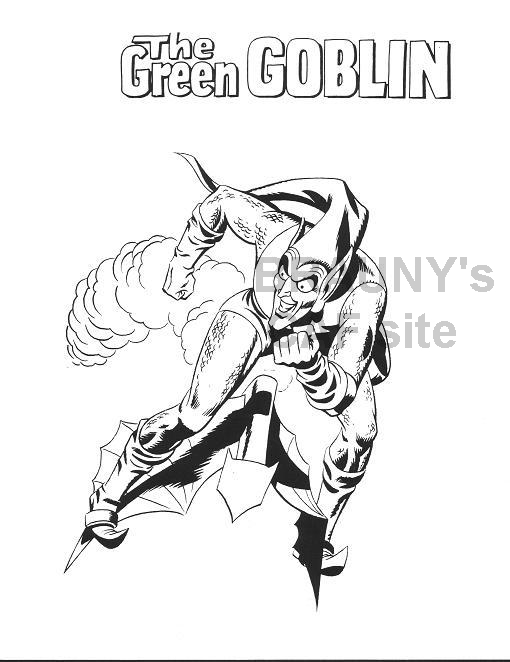 Free coloring pages of green goblin spiderman