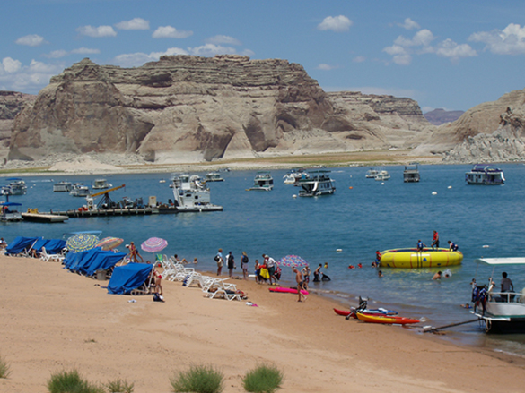 Wahweap Beach Is Closed At Lake Powell