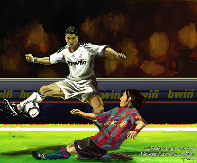 Ronaldo vs Messi Photos