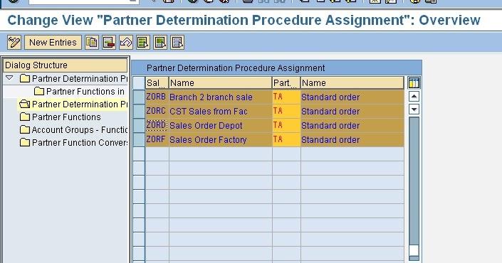 partner determination procedure in sap sd
