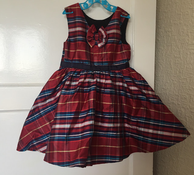 girls tartan party dress