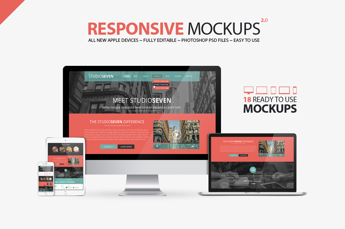 All New Responsive Mockups