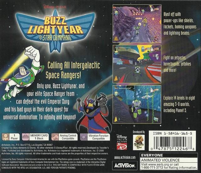 Disneypixar Buzz Lightyear Of Star Command Sony Playstation