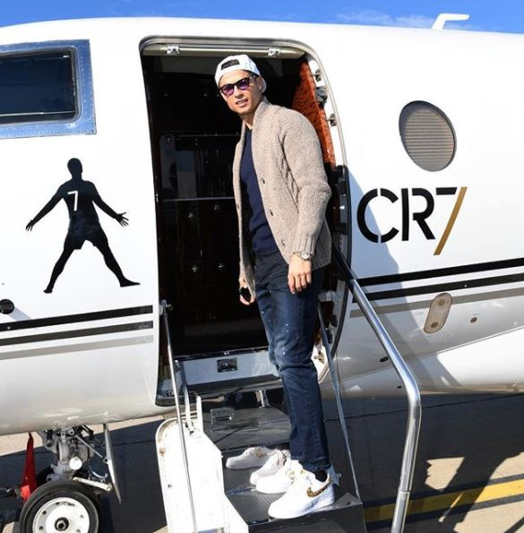 PHOTOS  Ronaldo Arrives Paris With His Family In Customised Private Jet For Ballon  D or Award Ceremony  c7983d0501f98