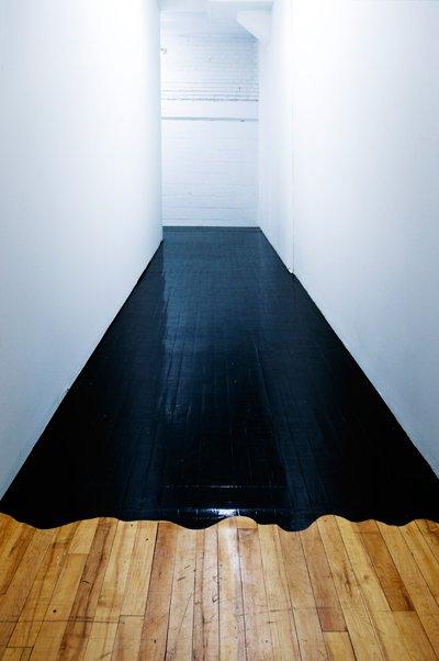 David Dangerous: Black Painted Wooden Floor