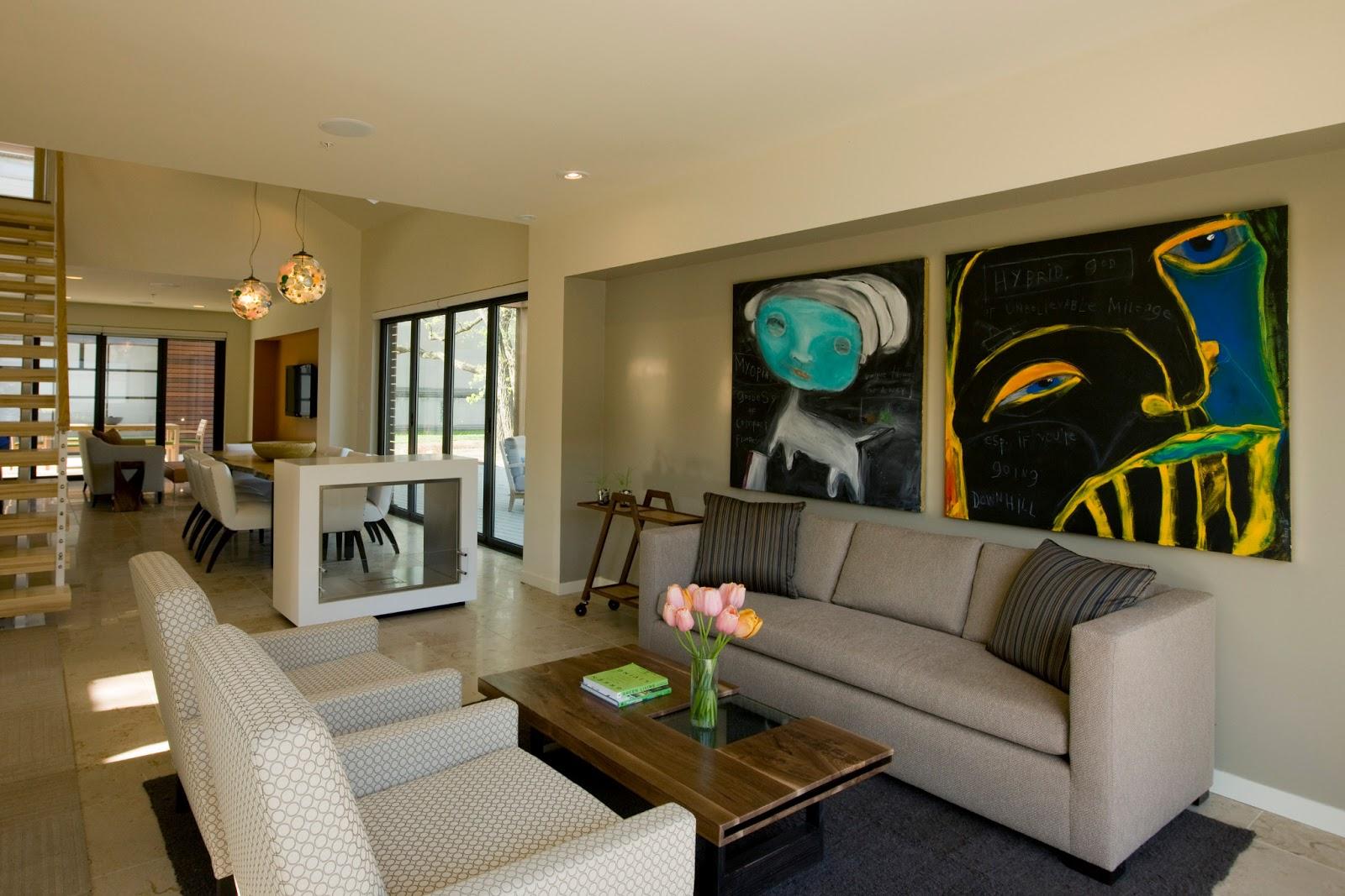 Hiasan Ruang Tamu Moden Apartment