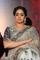 Sri Devi in designer saree stunning beauty at the launch of MOM movie Trailer~  Exclusive 097.JPG