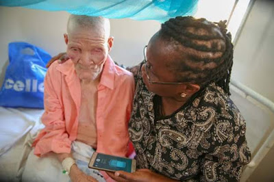 Photos: Unknown thugs chop off left hand of 75-year-old Albino man in Tanzania and disappear with it