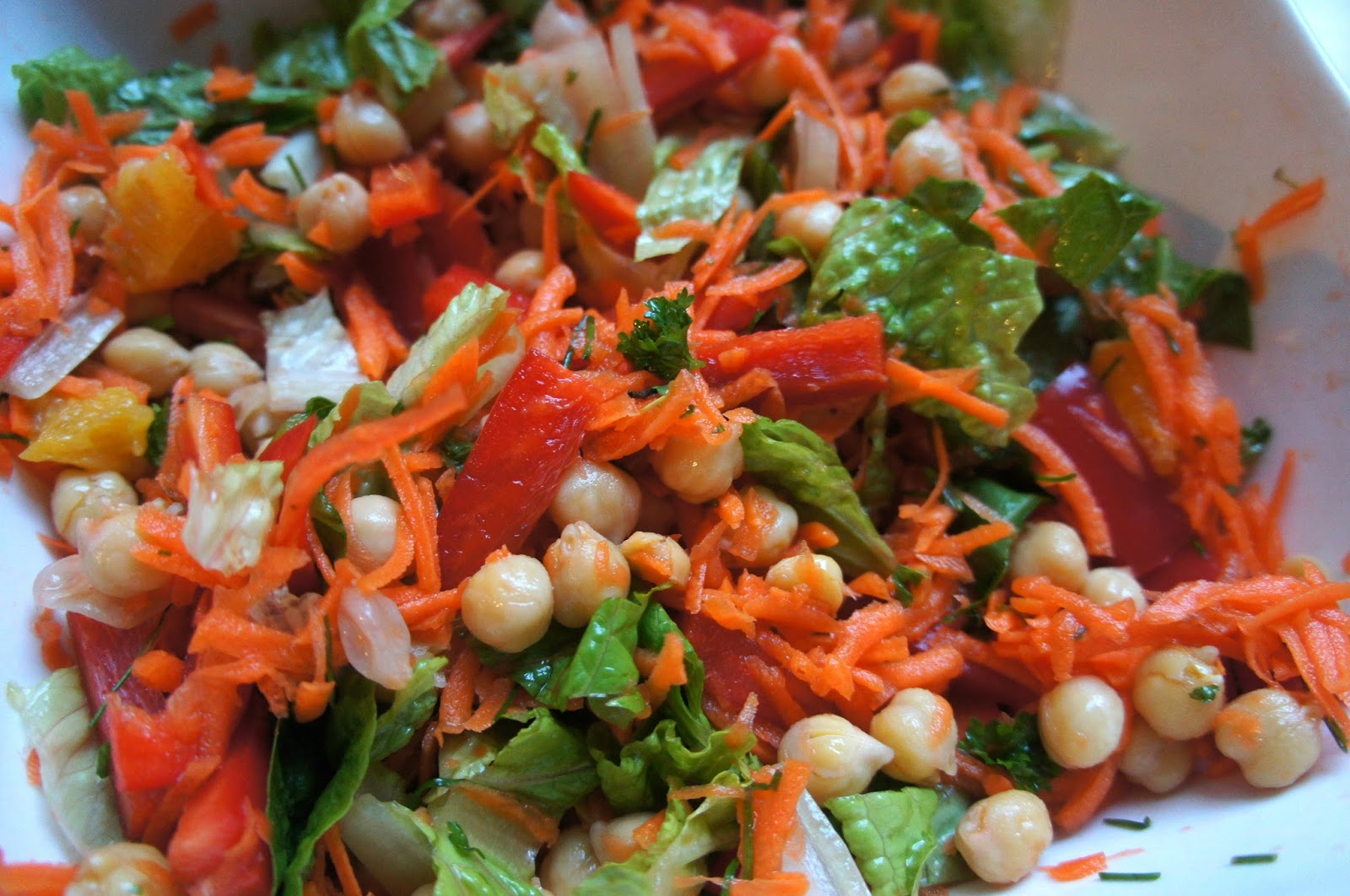 addition to Vitamin C, this salad provides protein from the chickpeas ...