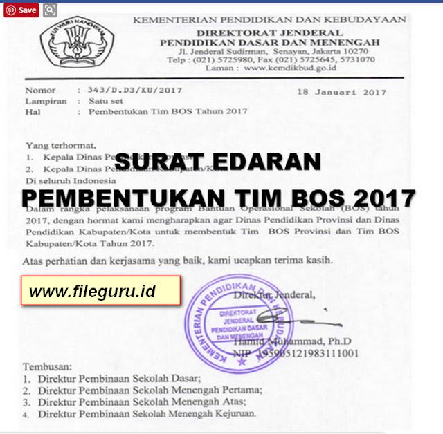 Surat Edaran Kemdikbud Tentang Pembentukan TIM BOS