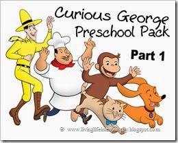 Curious George Free Printable Preschool Pack.
