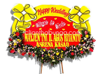bunga papan wedding pilihan surabaya