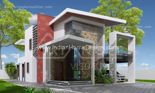 2307 sq ft 6 bedroom modern home exterior design indian for 4 bedroom house exterior design
