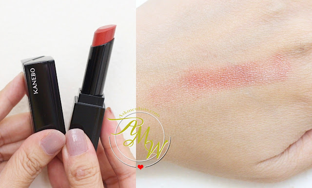a swatch photo of Kanebo Moisture Rouge  Shade 05 Core Red