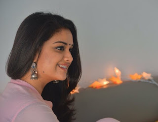 Keerthy Suresh in Pink Dress with Cute and Lovely Chubby Cheeks Smile Latest Image