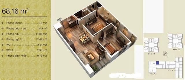 Căn 68,16 m2
