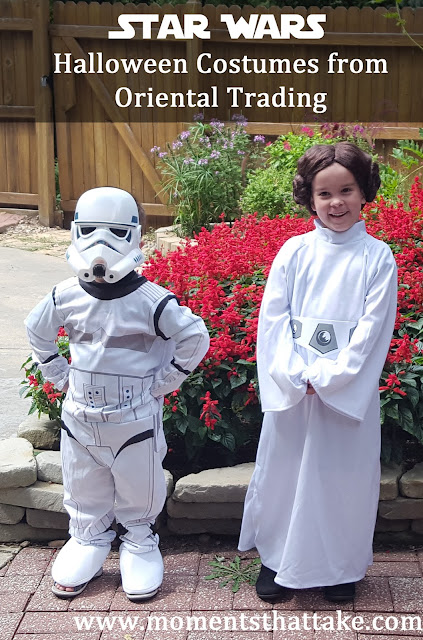 Halloween Costumes from Oriental Trading: Star Wars Coordinating Costumes Review!
