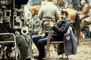 George Lucas durante el rodaje de Willow