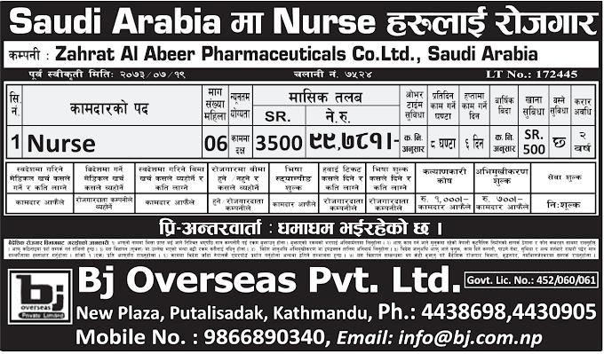 Free Visa, Free Ticket Jobs For Nepali In Saudi Arabia Salary- Rs.99,781/
