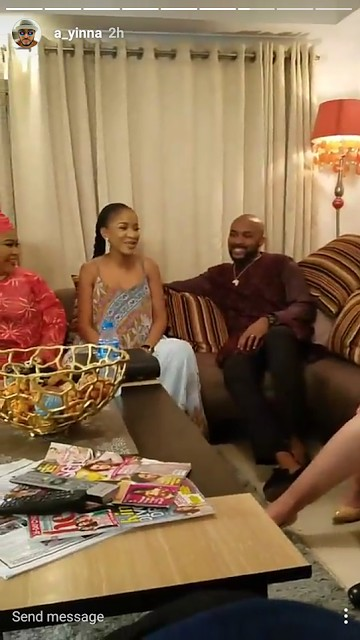 Banky W & Fiancée On The Set Of 'The Wedding Party 2