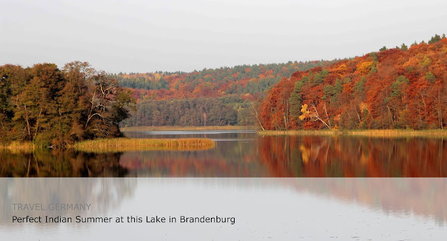 Perfect Indian Summer at the Tornowsee in Brandenburg. Travel Germany