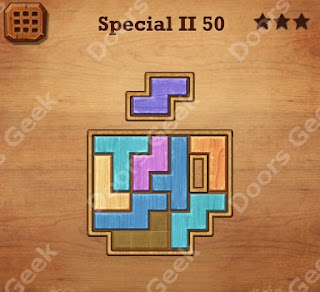 Cheats, Solutions, Walkthrough for Wood Block Puzzle Special II Level 50