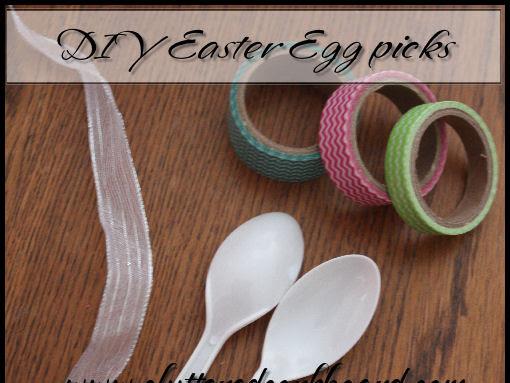 DIY Easter Egg Picks with Washi Tape