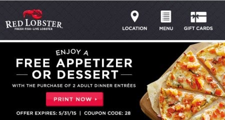 Red lobster canada coupons