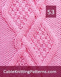 Cable Knitting Pattern 53