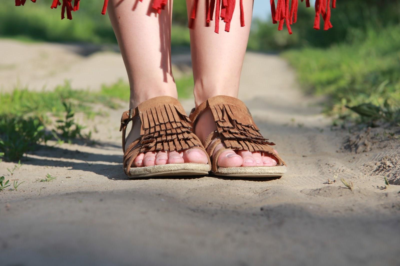Deichmann sandals suede