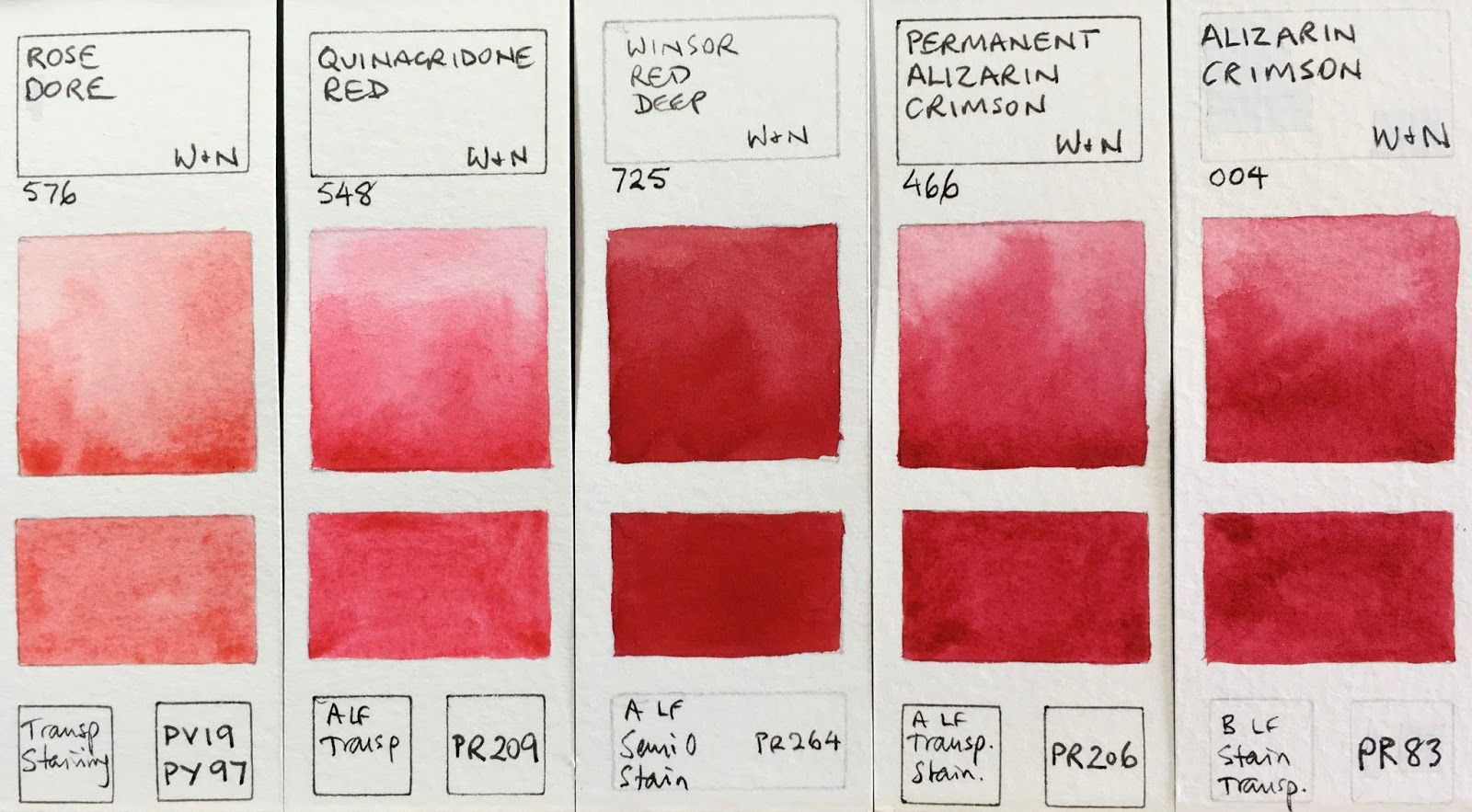 Winsor  newton watercolours rose dore quinacridone red deep permanent alizarin crimson also jane blundell artist full range rh janeblundellartspot