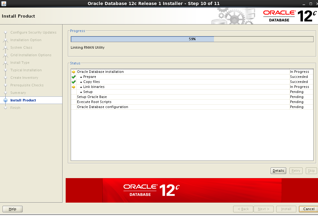 Learn oracle 12c database management: Step by Step installation of oracle 12C database on Linux 6 (centos)