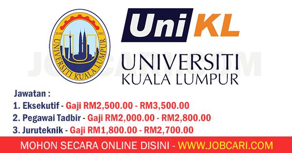 iklan jawatan unikl apply online