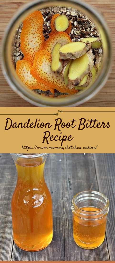 Dandelion Root Bitters Recipe #drinks #recipe
