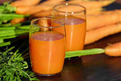 عصير البرتقال مع الجزر والزنجبيل