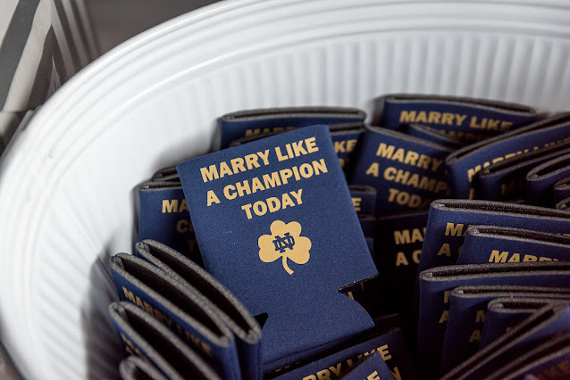 wedding navy drink coozies