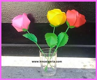 Cara Membuat Bunga Mawar dari Kertas Origami (Prakarya SD)