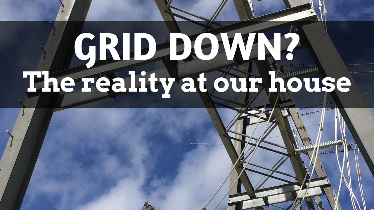 If the grid actually went down, how would our family deal with it?